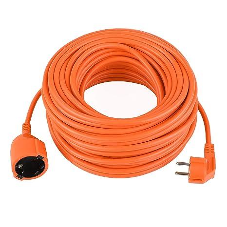 Alargador corriente eléctrica Cable 30 metros schuko de exterior ...