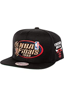 bc9a698a60f2c5 Mitchell & Ness Men's Chicago Bulls 1998 NBA Finals Commemorative Snapback  Hat One Size Black
