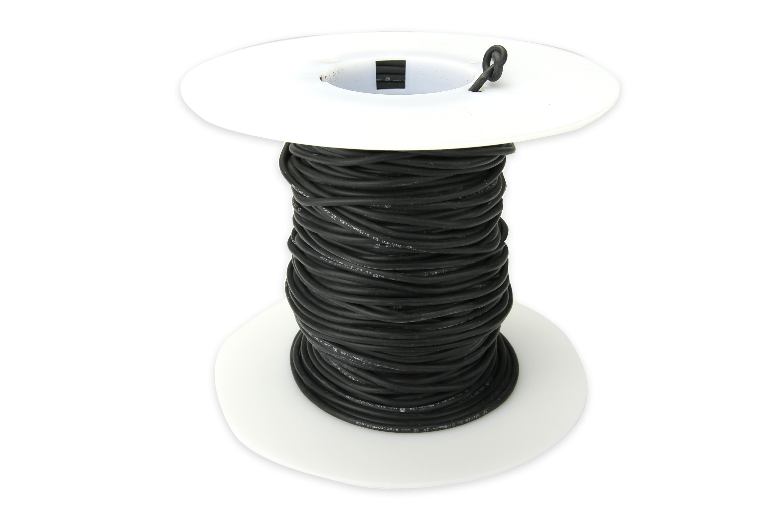 Cal Test Electronics CT2799 Test Lead Wire, 21 AWG, 12 Amp, Silicone Jacket, 0.75 sq mm, 10m Length, Black