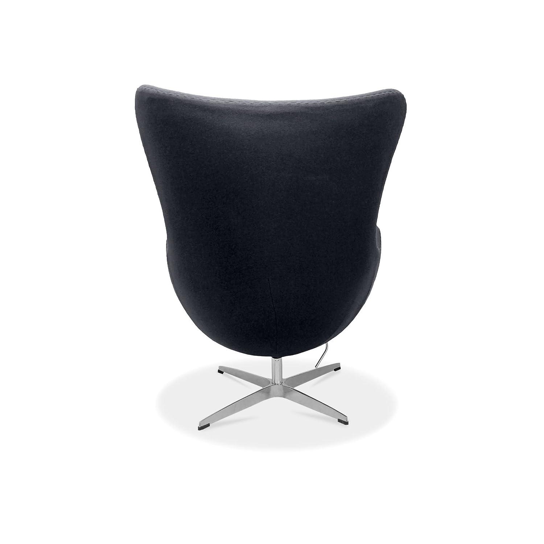 Egg Chair Arne Jacobsen Kopie.Arne Jacobsen Egg Chair Cashmere Wool Black