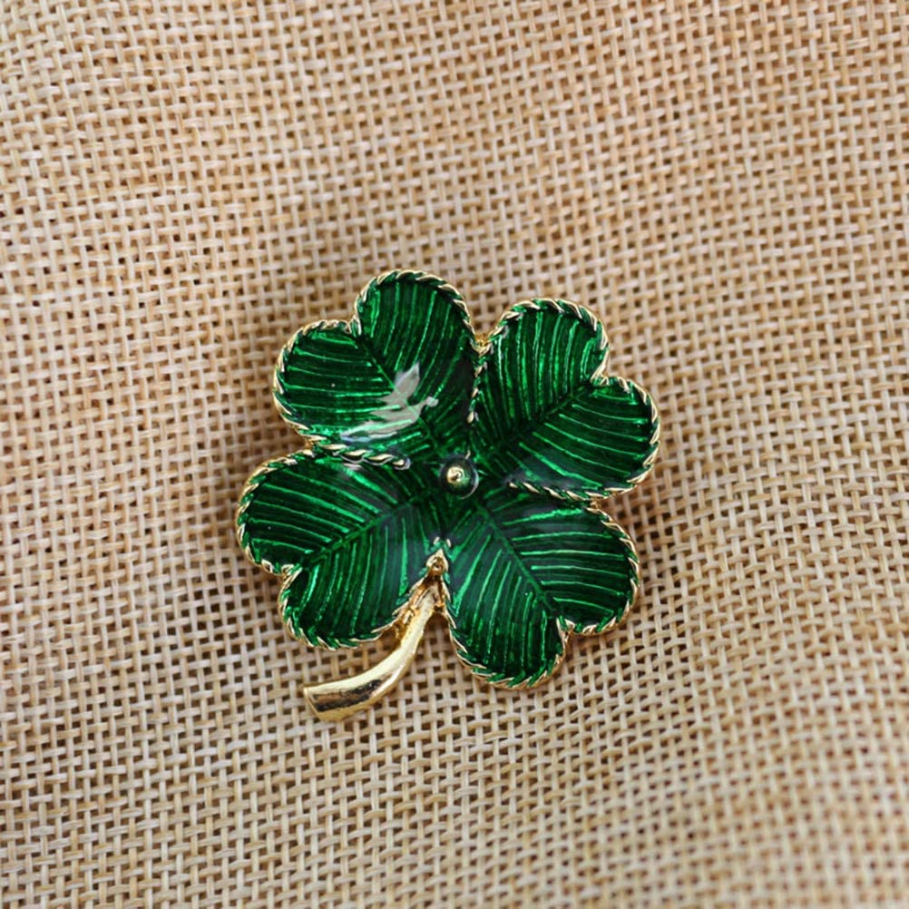 Lux Accessoires Ton Argent Vert St Patrick/'s Day Trois Feuille Trèfle Broche Pin