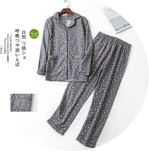 Wamen Pajamas Autumn Cotton Long Sleeve Casual Clothes Sleepwear Home Wear Set