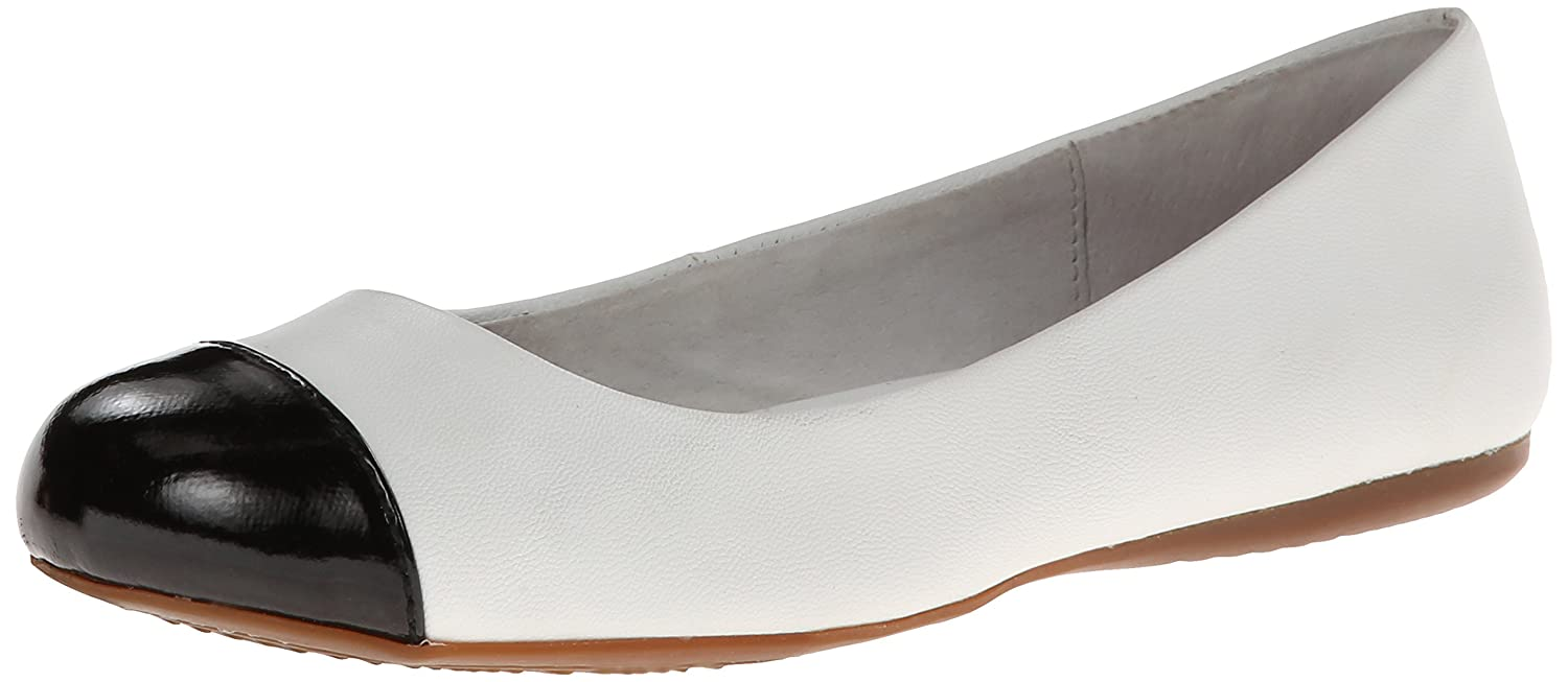 SoftWalk Womens Napa Ballet Flat B009WR8JUK 10.5 B(M) US|White/Black