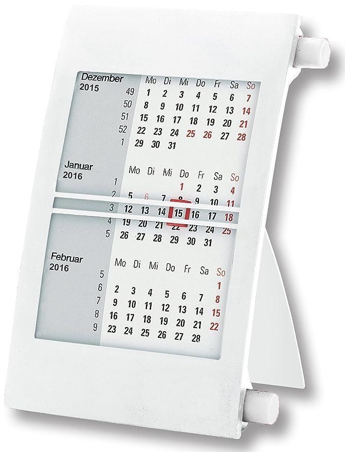 wei/ß//gr/ün 2020 /& 2021 - mit Drehmechanik Truento 3-Monats-Tischkalender f/ür 2 Jahre
