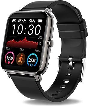 Smartwatch, Reloj Inteligente con Pulsómetro, Cronómetros, Calorías, Monitor de Sueño, Podómetro Pulsera Actividad Inteligente Impermeable IP67 Smartwatch Hombre Reloj Deportivo para Android iOS: Amazon.es: Electrónica