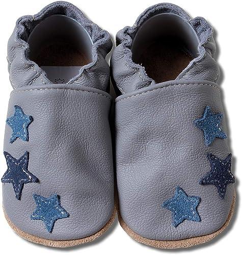 HOBEA Germany Baby Krabbelschuhe Jungen, Kinderhausschuhe