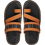 UrbanwhiZ Emosis Men Stylish Tan Brown Black Colour Casual Ethnic Formal Office Slide Slipper Sandal