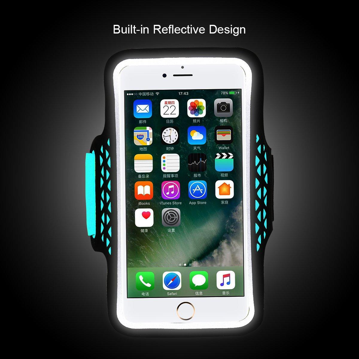 88c3dcf1ead Haissky deporte running Armband a prueba de sudor brazalete para iPhone 7  Plus 6 Plus 6S ...