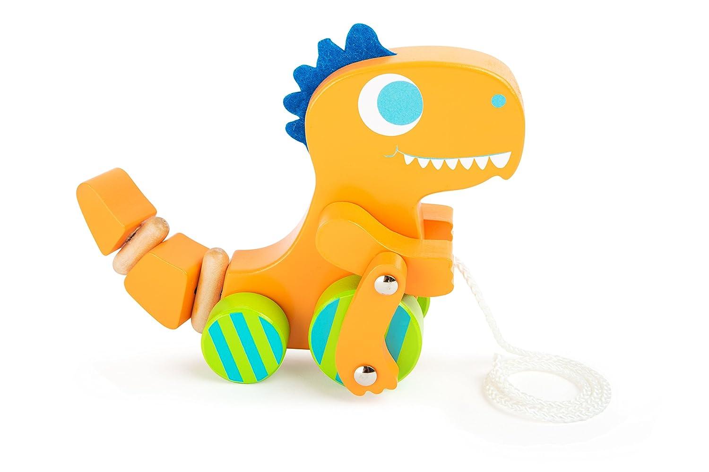 Ziehtier Dino Nachziehtier Lauflernspielzeug Holzspielzeug Holzspielzeug