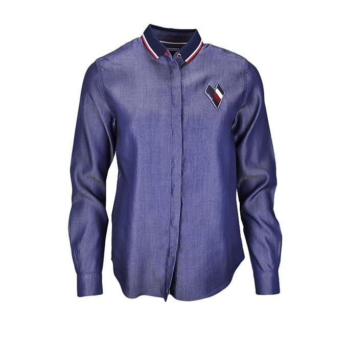 Tommy Hilfiger Camisas - Blusa - Para Mujer: Amazon.es: Ropa y accesorios