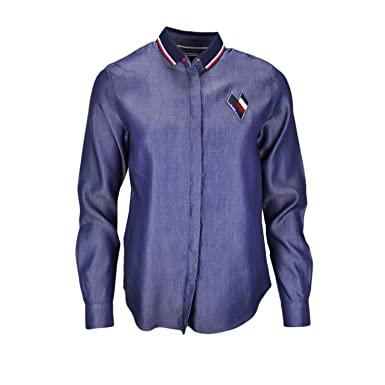 4f3783c7451d Tommy Hilfiger Chemise Céline Bleu Jean pour Femme  Amazon.fr ...