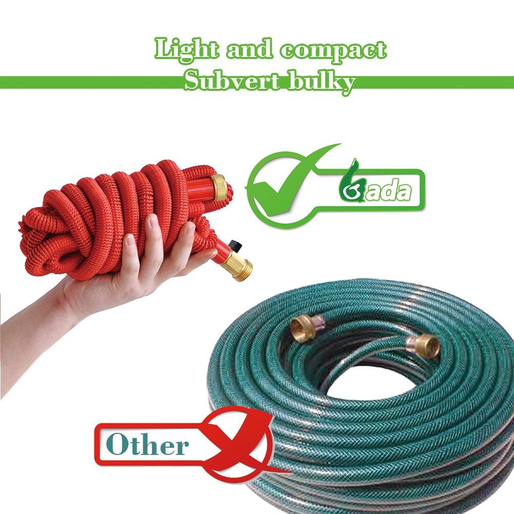 amazon com gada 75 foot garden hose flexible expanding hose brass