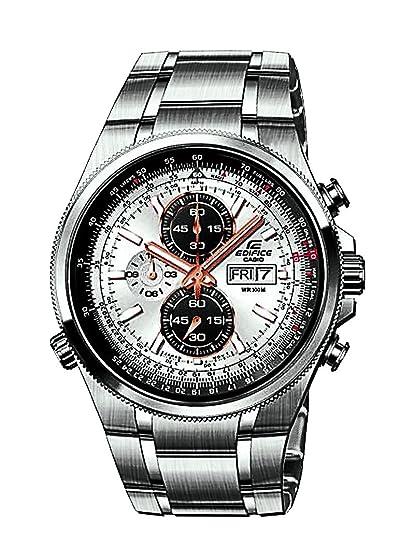 CASIO Edifice EFR-506D-7AVEF - Reloj analógico de Cuarzo con Correa de  Acero Inoxidable para Hombre (con cronómetro) 159d8372239a