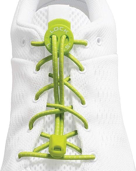 LOCK LACES - Cordones elásticos sin nudo, para zapatillas - 3 ...