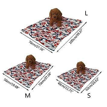 XCXpj - Manta Suave Lavable para Mascotas, Perro, Gato, Cama, sofá, 70 x 100 cm, Color Rojo: Amazon.es: Productos para mascotas