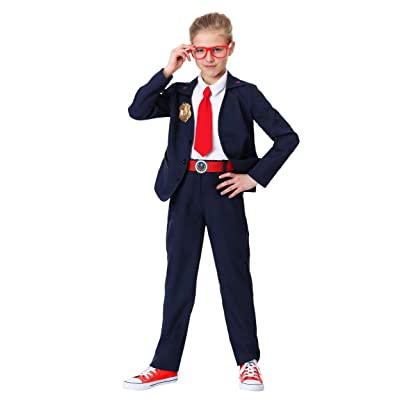 Kid's Odd Squad Agent Costume Odd Squad Jacket Costume for Kids PBS Math Agent Suit: Clothing