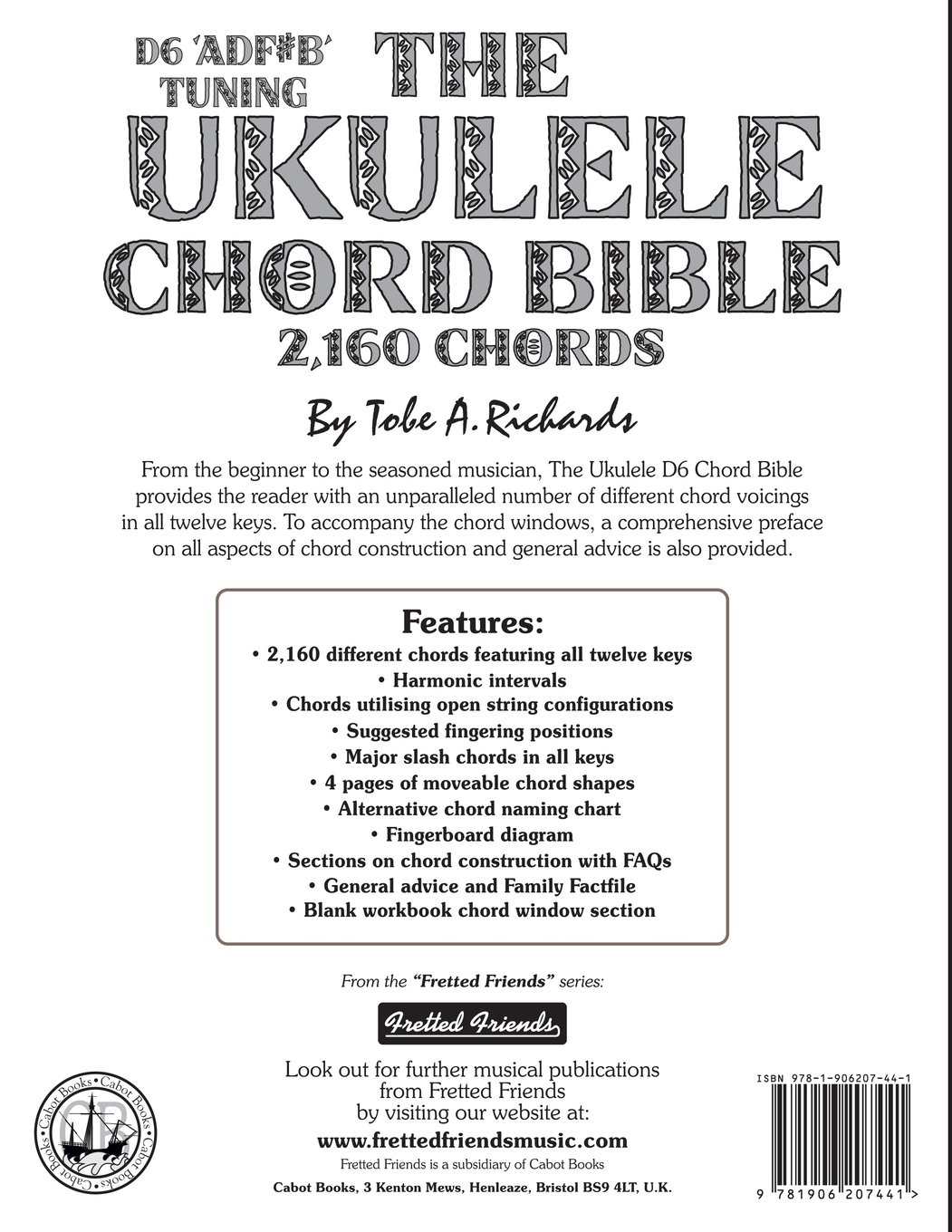 Amazon the ukulele chord bible d6 tuning 1726 chords amazon the ukulele chord bible d6 tuning 1726 chords fretted friends 9781906207441 tobe a richards books hexwebz Images