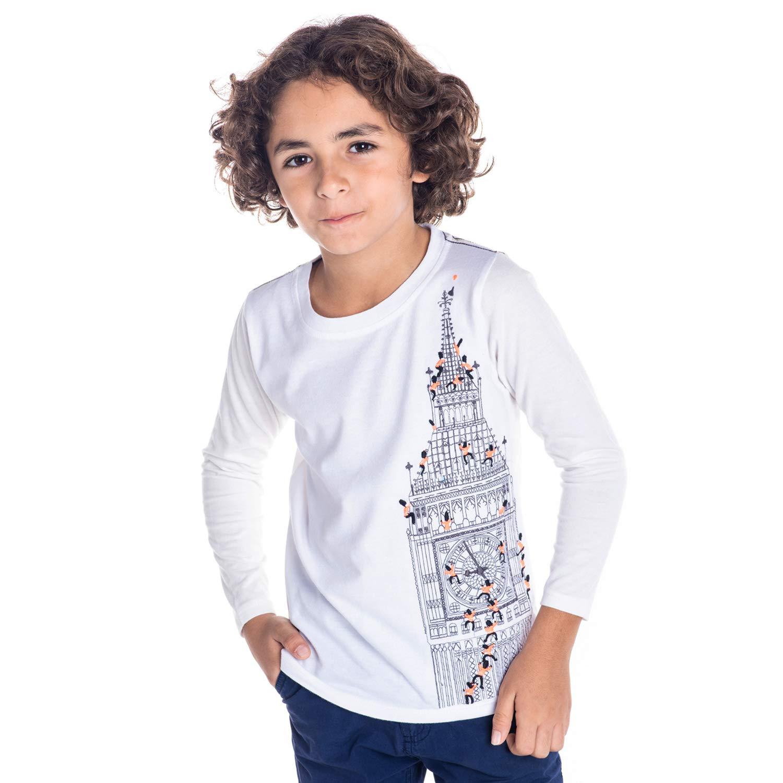 Cherry Crumble California Baby Boys' Plain Regular Fit T-Shirt