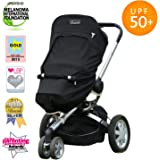 SnoozeShade Plus | Baby Sun Shade and Sleep aid for pushchairs and Strollers | Universal fit | Blocks up to 99% of UV (6m+)