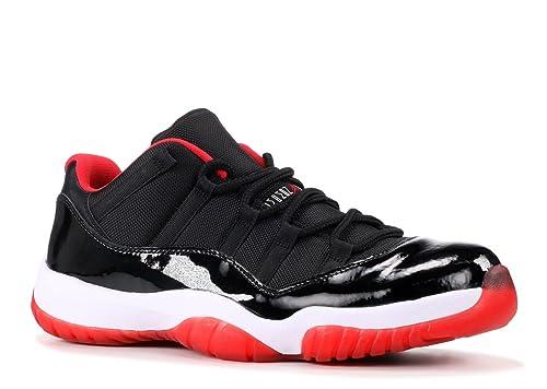 Nike Air Jordan 11 Retro Low, Zapatillas de Baloncesto para Hombre, Negro/Rojo/Plateado (Black/Infrared 23-Pr Platinum), 45 EU