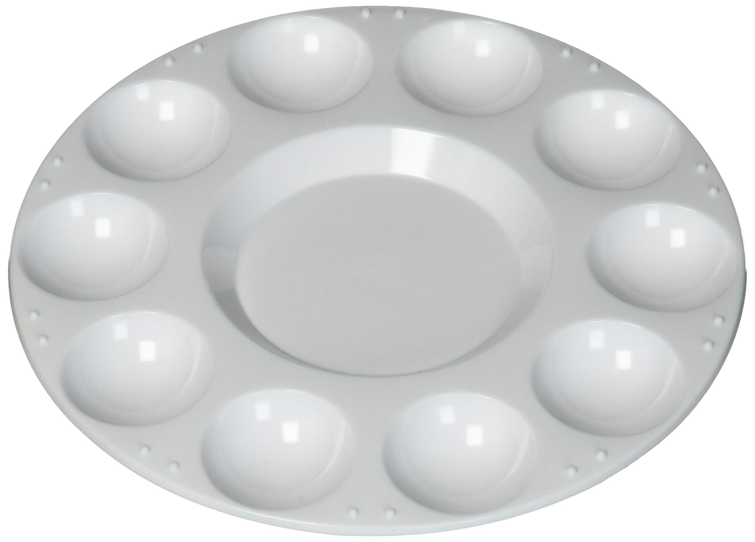 Jack Richeson 400220-12 Richeson Round 10 Well Trays with Lids, 12 Pack by Jack Richeson