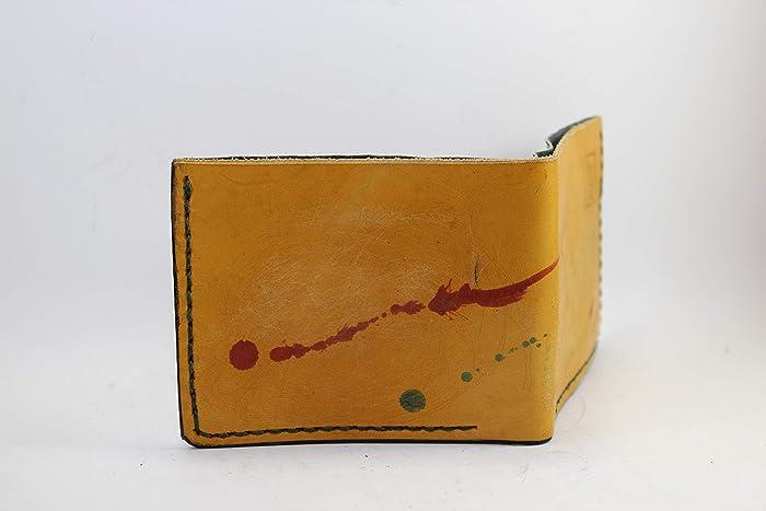 8c2b040f86 Portafoglio Uomo Ocra in Pelle fatto a mano Personalizzabile con Porta  monete