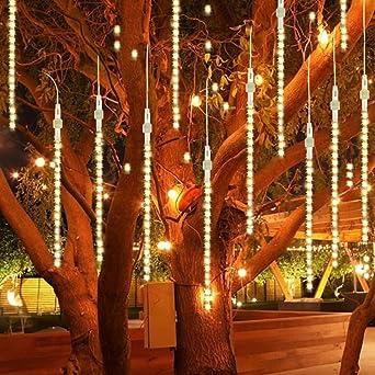 Outdoor Lights, LED Meteor Douche Pluie Lumières, étanche Lumières De Jardin  Snow Falling Gouttes