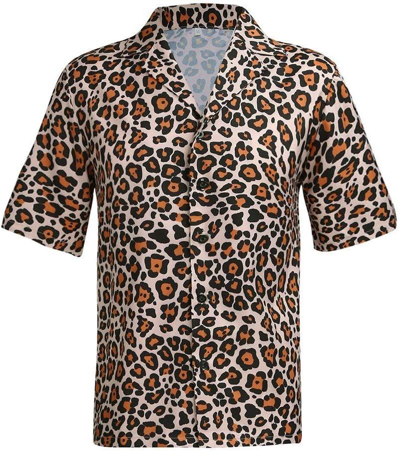 Mens Leopard Short Sleeve