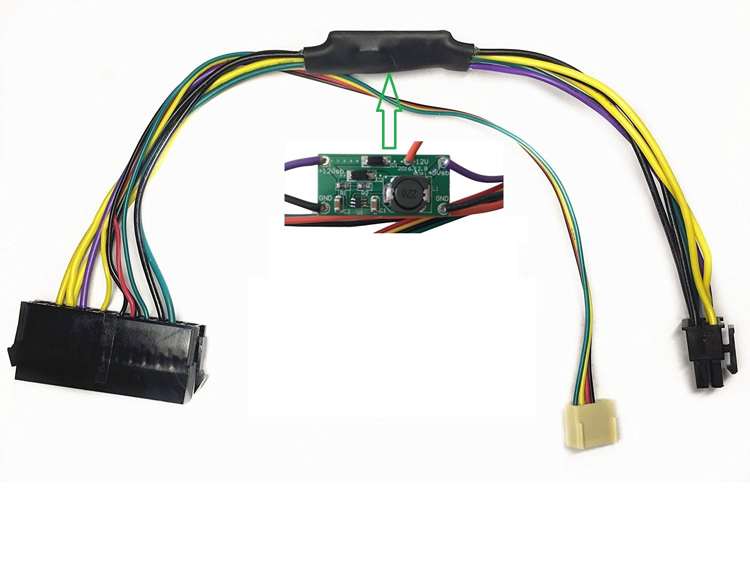 EZSync ATX PSU (24-Pin) to HP Motherboard (6-Pin PCI-E, 2 ports) Power Adapter Cable for HP Z220/Z230 Workstation, 11 inches and 18 AWG, EZSync910 by EZSync (Image #5)