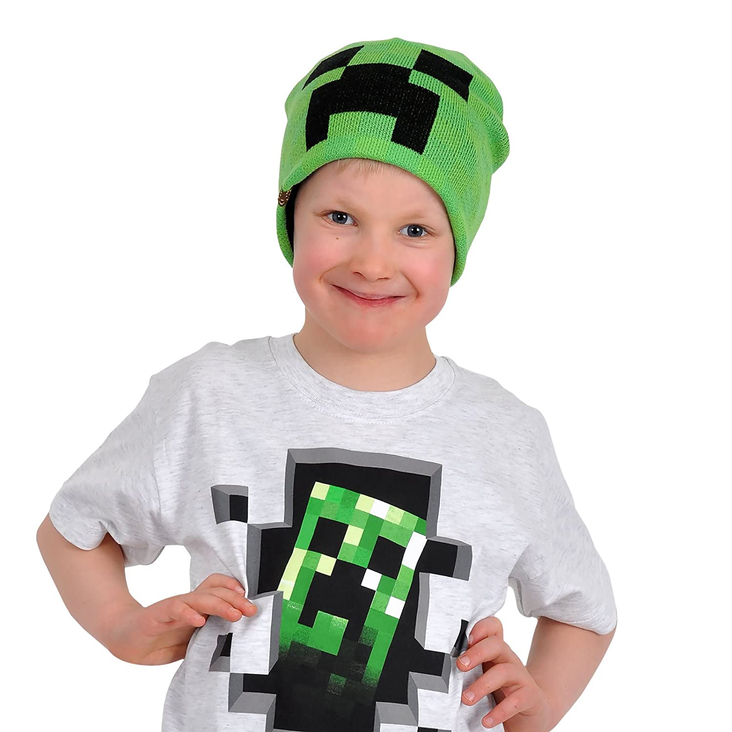 MINECRAFT Cappetto Berretto CREEPER Cactus Pixel ORIGINALE Ufficiale Beanie