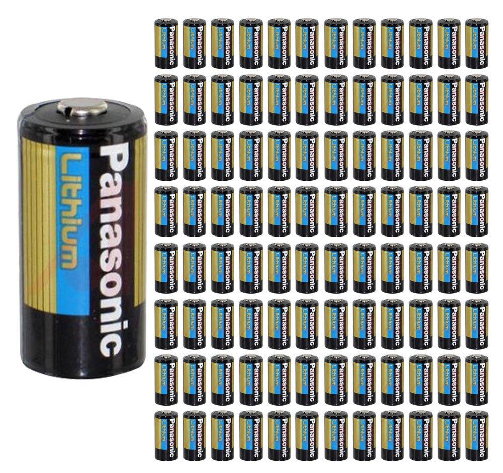 100x Panasonic CR123A Battery CR123 CR 123 Lithium 3V Photo Batteries Bulk