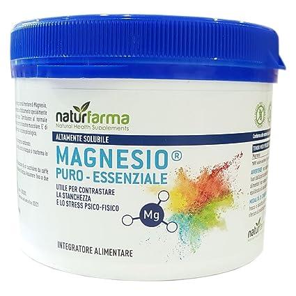 Magnesio Puro Esencial naturfarma tarro 300 gr| Magnesio Supremo equivalente Ahorra | altamente soluble | útil para contrastare la stanchezza y lo Stress ...