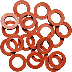 "TTSAM Garden Hose Washer, Universal Rubber Washers Hose Ring, Fit All Standard 3/4"" Garden Hose Seals(Pack of 20)"