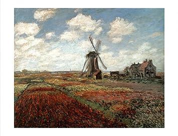Claude Monet /'Tulip Fields in Holland 1886/' Rolled Canvas Art 14 x 19