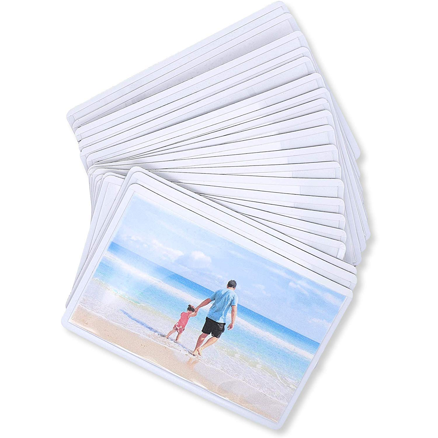 Juvale 24-Pack Magnetic Wallet Picture Frame, 2.5 x 3.5 Inches