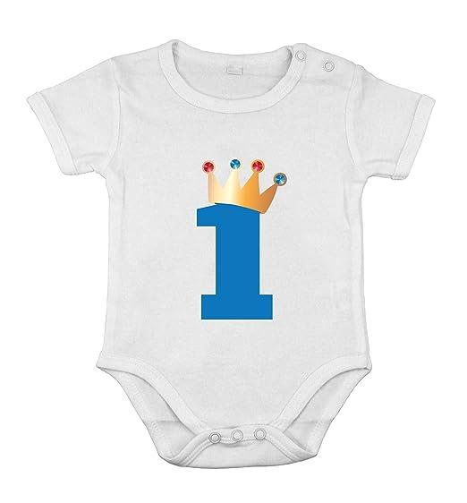 don de primer cumpleaños del bebé recién nacido CottonBoy traje corto One-piece Rey: Amazon.es: Ropa y accesorios