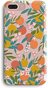 iPhone 7 Case,iPhone 8 Case,TRFAEE Lovely Citrus Oranges Tangerines Fruits Lemon Clear Soft Anti Scratch Shock Absorption Protective TPU Cases Cover for iPhone 7/8