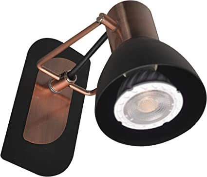 KimYan Plug in Track Lighting Pendant,Bronze and Black Finish,with On//Off Switch,with MR16GU10 LED Bulbs,Warm White,CRI90