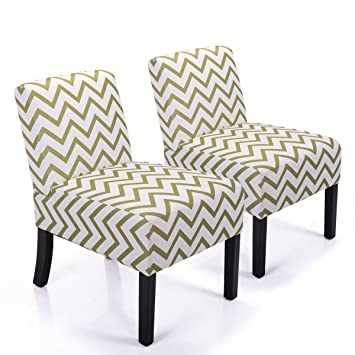 LAZYMOON Leisure Armless Chair Modern Contemporary Upholstered Couch Seat  Accent Chair Living Room Chair Set Wave