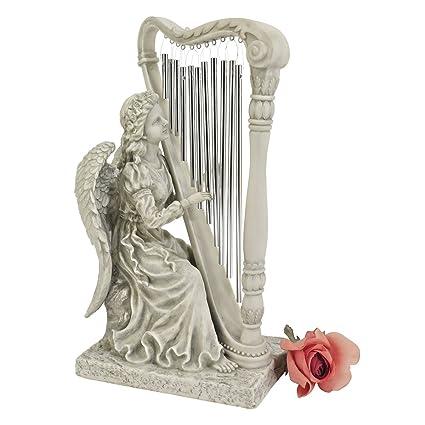 Amazon Com Design Toscano Music From Heaven Angel Statue Small