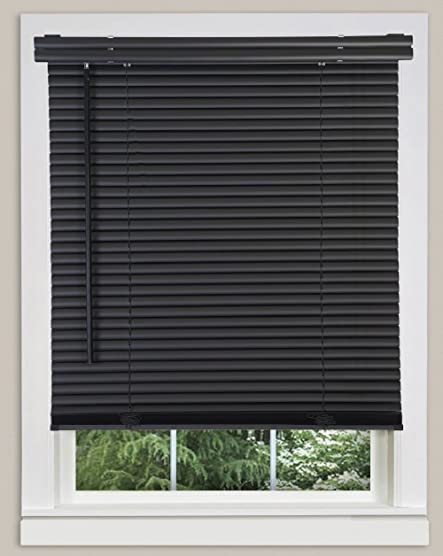 PowerSellerUSA Cordless Window Blinds 1″ Slats Light Filtering Vinyl Mini Blind