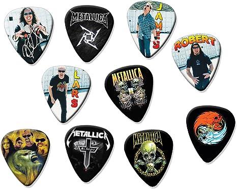 Metallica Classic Set de 10 púas de guitarra sueltos Pick: Amazon ...