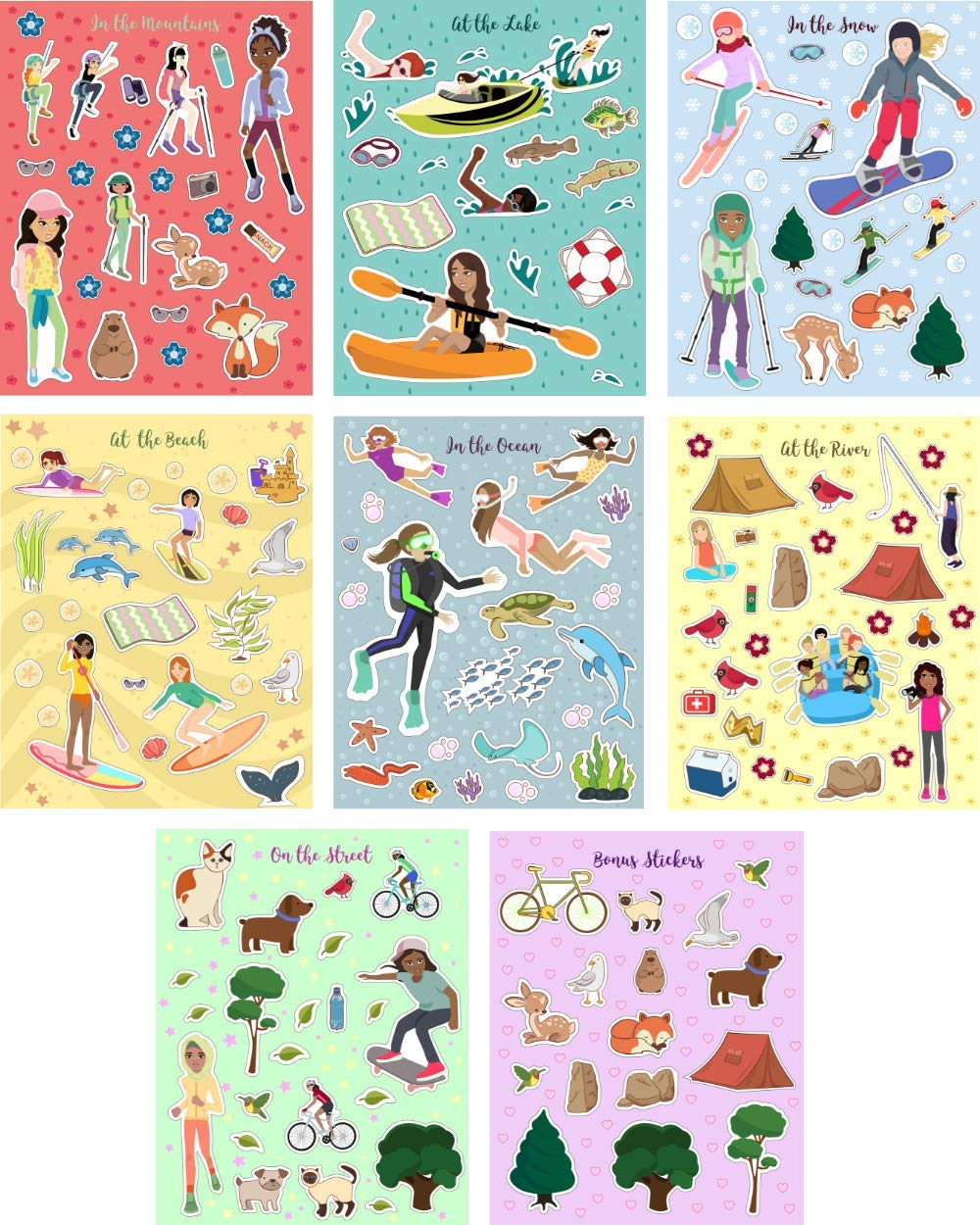 Confidence-Building Sticker Book for Girls Ages 4-8 - Outdoor Sports Sticker Adventure by Hopscotch Girls (Image #6)