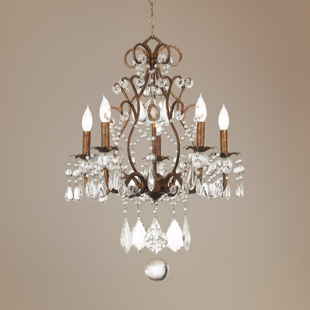 Jolie Five Light 19 1 2 Wide Crystal Beaded Chandelier Victorian Com