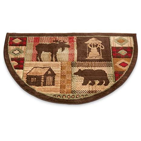 Amazon Com Na Wildlife Bear Moose Hearth Rug Fire Resistant Flame