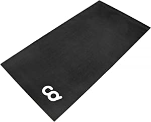 CyclingDeal Bicycle Trainer Hardwood Floor Carpet Protection Workout Mat for Indoor Cycle- Stationary Bike - for Peloton Spin Bikes -Thick Mats for Exercise Equipment - Treadmill
