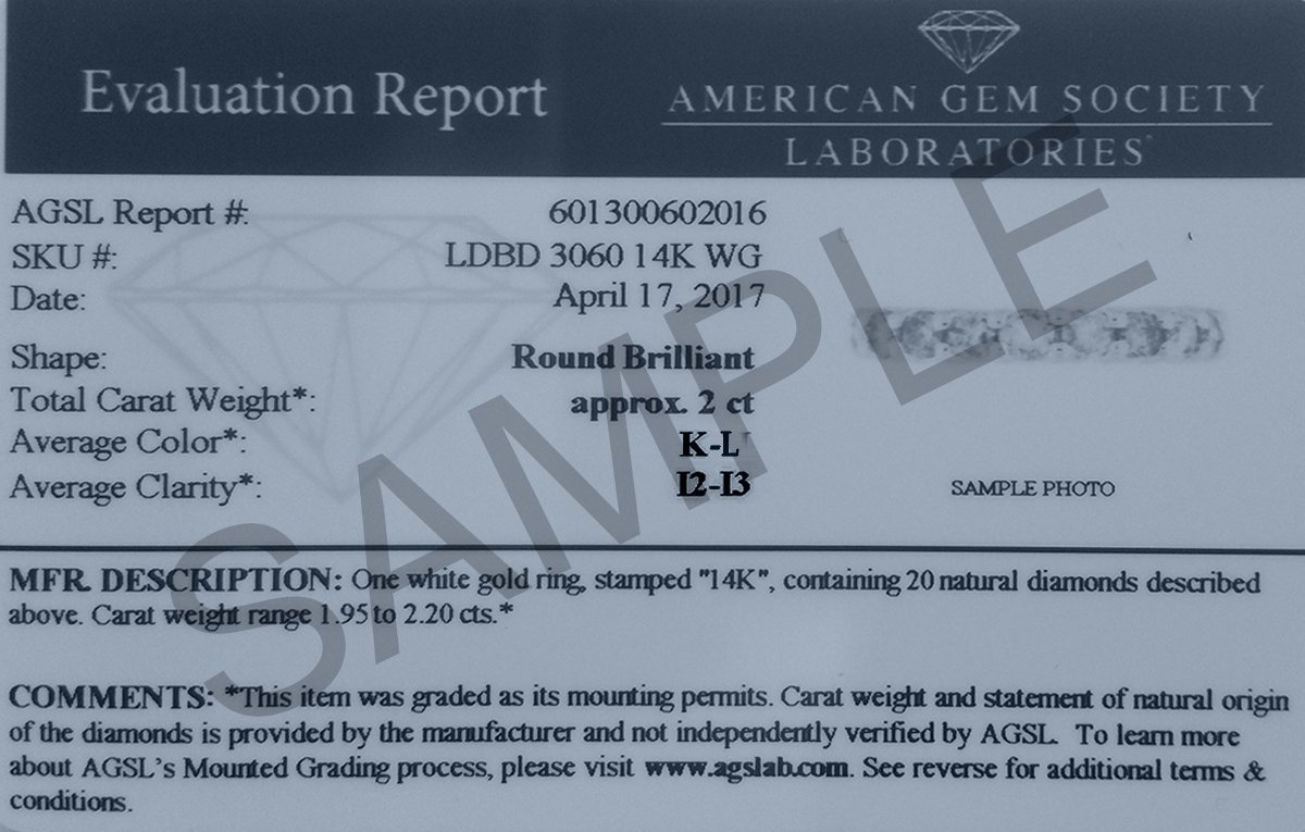 2 Carat TW AGS Certified 14K White Gold Diamond Eternity Band (K-L Color, I2-I3 Clarity) by Szul (Image #4)