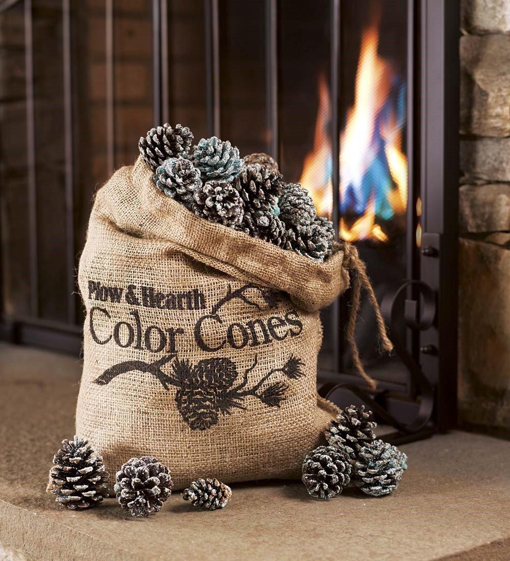 amazon com fireplace color cones festive fun rainbow flame