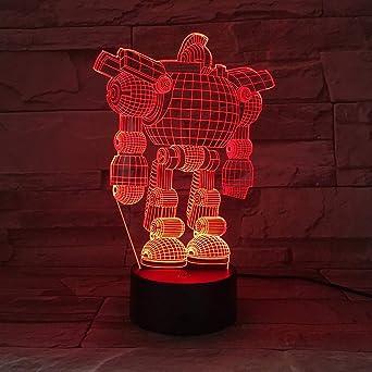 Aoyuhf Máquina Gigante De Acero 7 Colores 3D Led Lámpara Lámpara ...