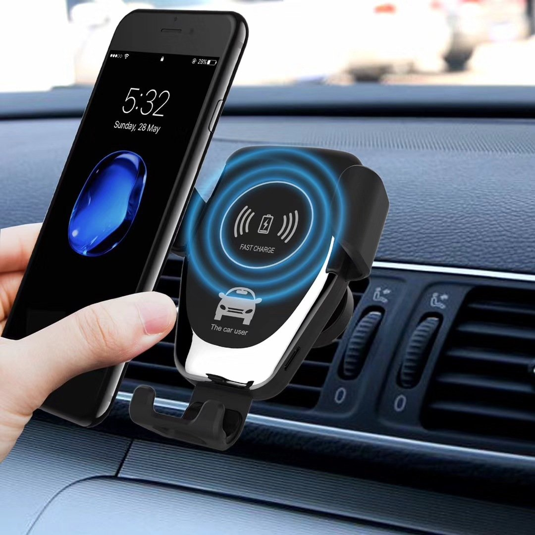 Nesolo 10W QI Wireless Car Charger, Car Mount with Air Vent Phone Holder, Fast Charge for Samsung Galaxy S9, S9 Plus, S8, S8 Plus,Note 8, Note 5, for iPhone X,XR,XS,MAX,8, 8 Plus